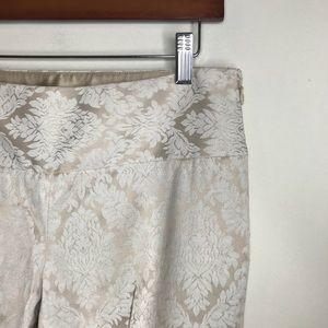 Elie Tahari Sz 4 Print Beige Work Trouser Pant